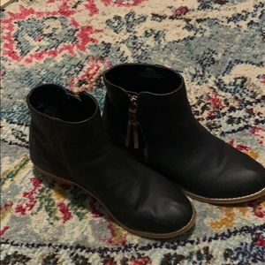 Leather booties!